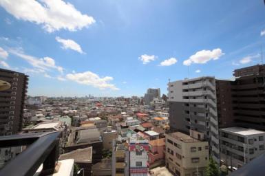 9階から望む、開放的なパノラマ眺望